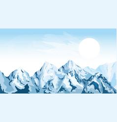 horizontal mountain background vector image