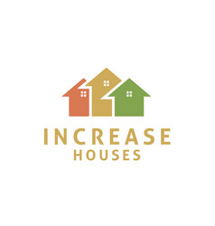 house arrow statistic business marketing logo vector image