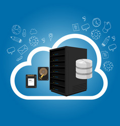iaas infrastructure as a service on cloud vector image