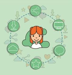 kids social media vector image