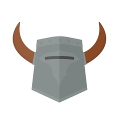 Knight viking helmet vector