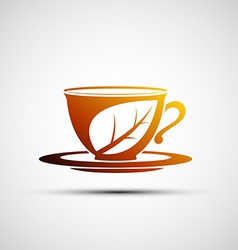 logo cup of tea vector image
