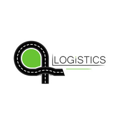 logo or emlem a logistics company or road vector image