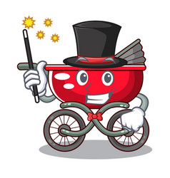 magician modern baby stroller isolated against vector image