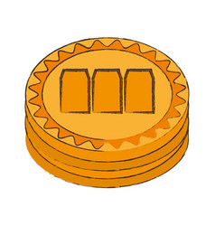 megacoin cryptocurrency stack icon vector image
