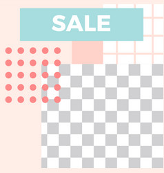 memphis style post trendy abstract sale social vector image