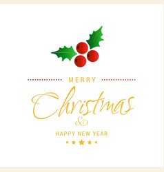 merry christmas creative design with white vector image