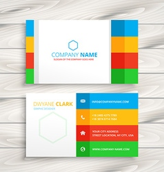Modern corporate business card vector