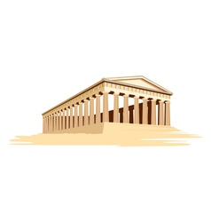 Old majestic temple vector