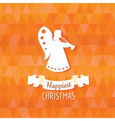 Paper Angel - Christmas Background vector