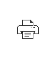 Printer symbol icon pixel perfect outline line vector