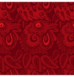 red pattern with rooster vector image