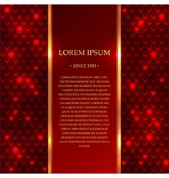 Red shiny background with sparkles vector image vector image
