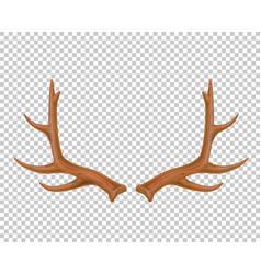 Reindeer antlers deer horns realistic logo vector