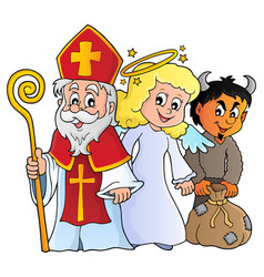 Saint nicholas day theme 1 vector