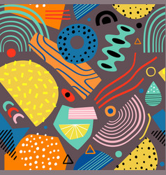seamless pattern with color abstract elements vector image