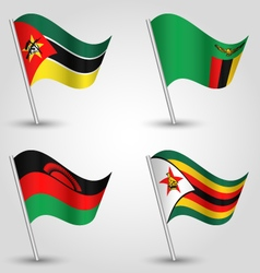Set of flags southeast africa vector