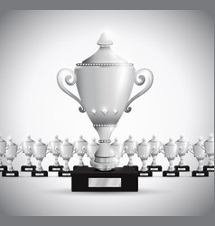 Set of trophies vector