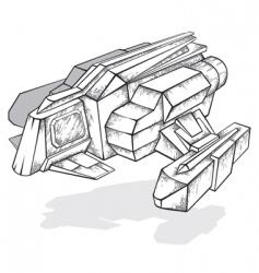spaceship concept vector image
