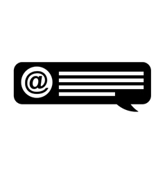 Speech bubble blog icon vector