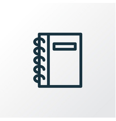 spiral notebook icon line symbol premium quality vector image
