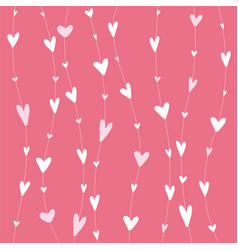 stripy pattern with white hearts on hanging vector image