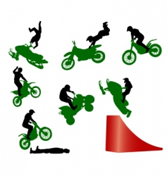 stunt show on a motorcycle vector image