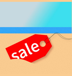 Summer sale beach vector
