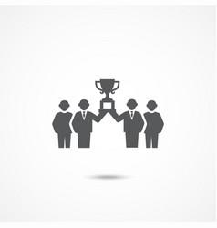 team work icon vector image
