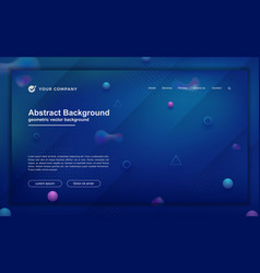 trendy abstract background for your landing page vector image