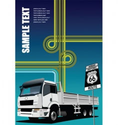 Truck and junction image vector