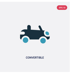 two color convertible icon from transportation vector image
