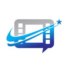 video sharing marketing solution vector image