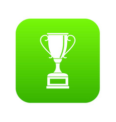 winning gold cup icon digital green vector image
