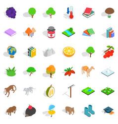 Zoology icons set isometric style vector