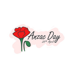 anzac day symbol of red vector image