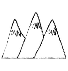 big mountains isolated vector image vector image