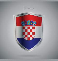 europe flags series croatia modern icon vector image vector image