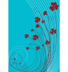 flower postcard vector image