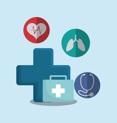 medical first aid kit vector image vector image