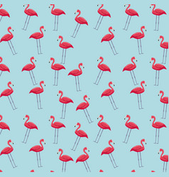 pink flamingos background vector image