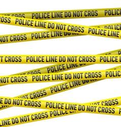 Police danger tape vector image vector image