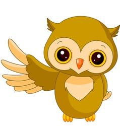 Fun zoo Owl vector image vector image