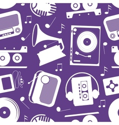 musical pattern vector image vector image
