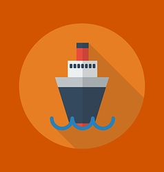 Transportation Flat Icon Ship vector image vector image