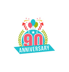 anniversary ninety years number vector image vector image