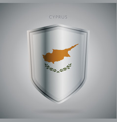 europe flags series cyprus modern icon vector image vector image