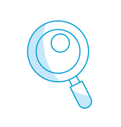 Silhouette magnifying glass tool to search and vector
