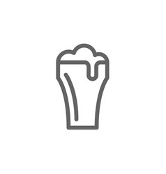 simple beer glass line icon symbol and sign vector image vector image