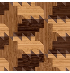 wooden mosaic vector image vector image